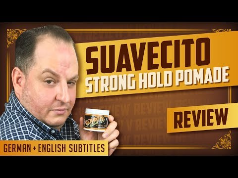 Starke Pomade Fur Den Sommer Suavecito Strong Hold Pomade Review German English Subtitles Flipreview Com